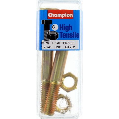 "Champion Bolt and Nuts 4"" x 1/2 BC76"