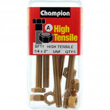 "Champion Fully Threaded Set Screws and Nuts 2"" x ¼ BF11"