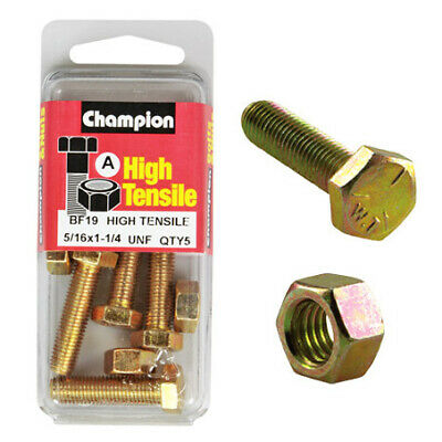 Champion Fully Threaded Set Screws and Nuts 1-1/4 x 5/16 BF19
