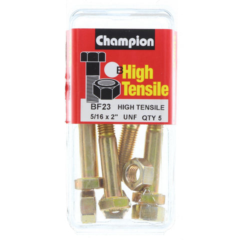 "Champion Bolt and Nuts 2"" x 5/16  BF23"