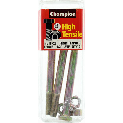 "Champion Bolt and Nuts 3""1/2 x 5/16  BF29"