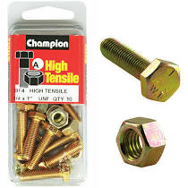 "Champion Fully Threaded Set Screws and Nuts 1 "" x ¼ BF4"