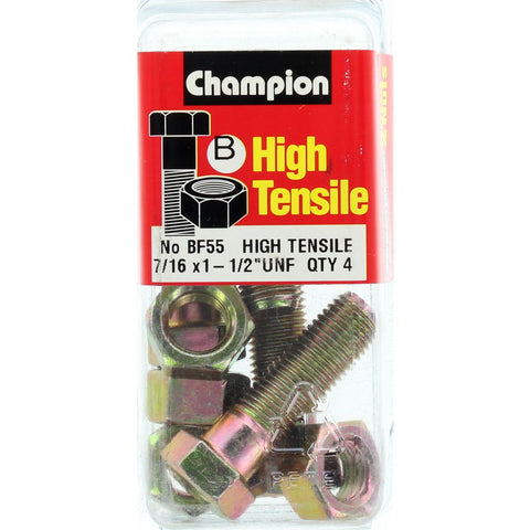"Champion Bolt and Nuts 1-1/2"" x 7/16  BF55"