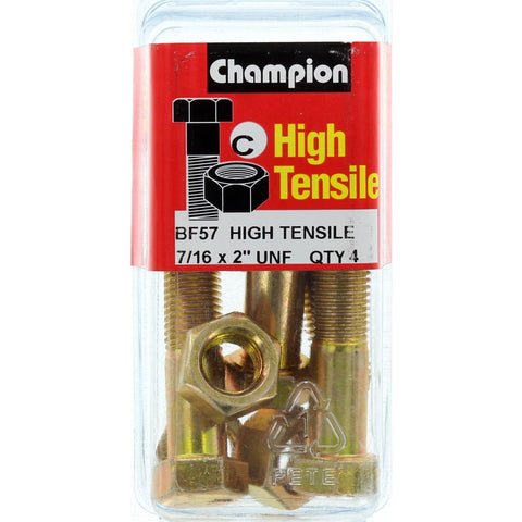 "Champion Bolt and Nuts 2"" x 7/16  BF57"