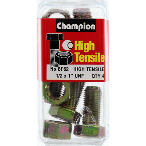 "Champion Fully Threaded Set Screws and Nuts 1"" x1/2 BF62"