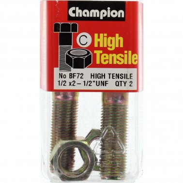 "Champion Bolt and Nuts 2-1/2"" x 1/2  BF72"