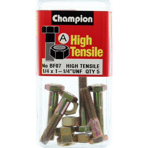 Champion Fully Threaded Set Screws and Nuts 1-1/4 x ¼ BF7