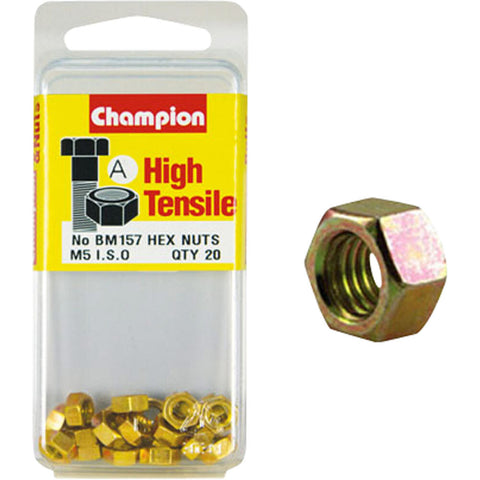 Champion Metric Hex Nuts 5 x .08 mm- BM157