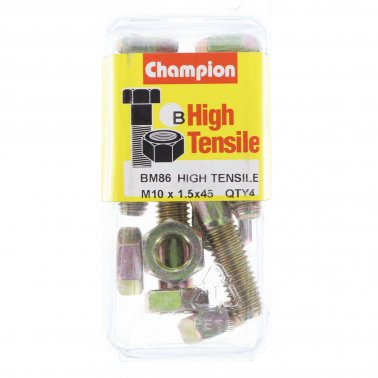 Champion Fully Threaded Set Screws and Nuts 10 x 45 mm- BM86