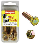 Champion Fully Threaded Set Screws and Nuts 10 x 50 mm- BM88