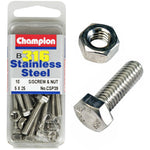 Champion Screws and Nut Set 5mm x 25mm  CSP39