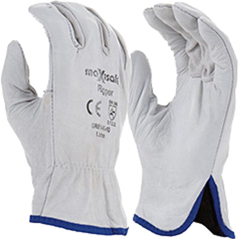 MAXISAFE - Natural Cowgrain Rigger Glove - GRB140