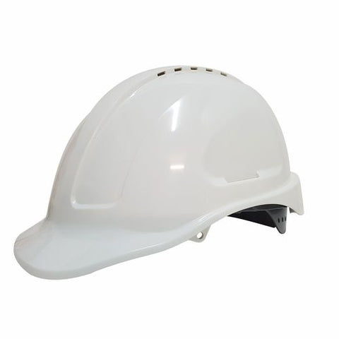 MAXISAFE – Maxiguard White Vented Hard Hat -Sliplock Harness -HVS590-W
