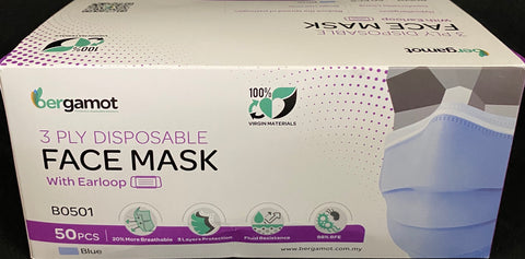 Face Masks- 3 PLY Disposable Face Mask- Box of 50