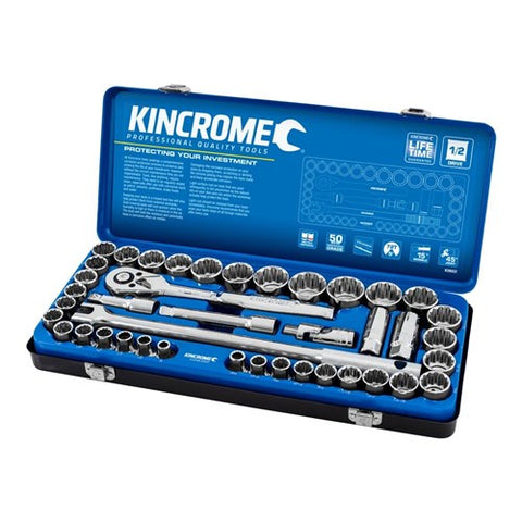 Kincrome Socket Set  42 pce 1/2D Metric/Imperial K28022