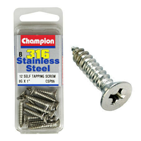 "Champion Self Tapping Screws 8G x 1 "" CSP06"