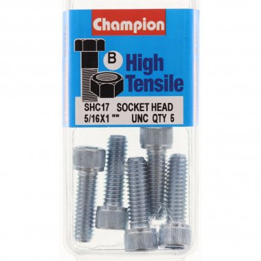 Champion Blister Screw Socket Head 5/16 x 1 -SHC17