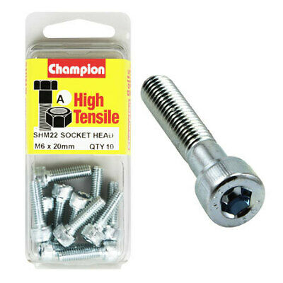 Champion Blister Screw Socket Head Metric 6 x 20-SHM22