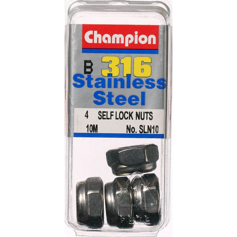 Champion Self Lock Nuts 10mm - SLN10