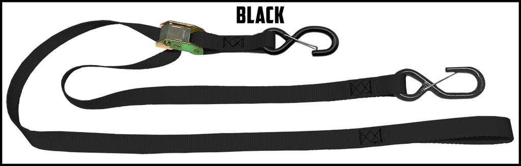 1 Inch Cam Straps - No Soft Loop (one pair)