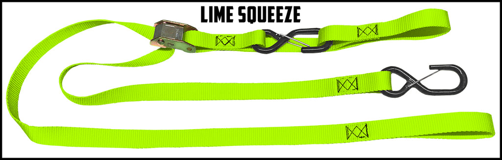 1 Inch Cam Straps - With Soft Loop (one pair)