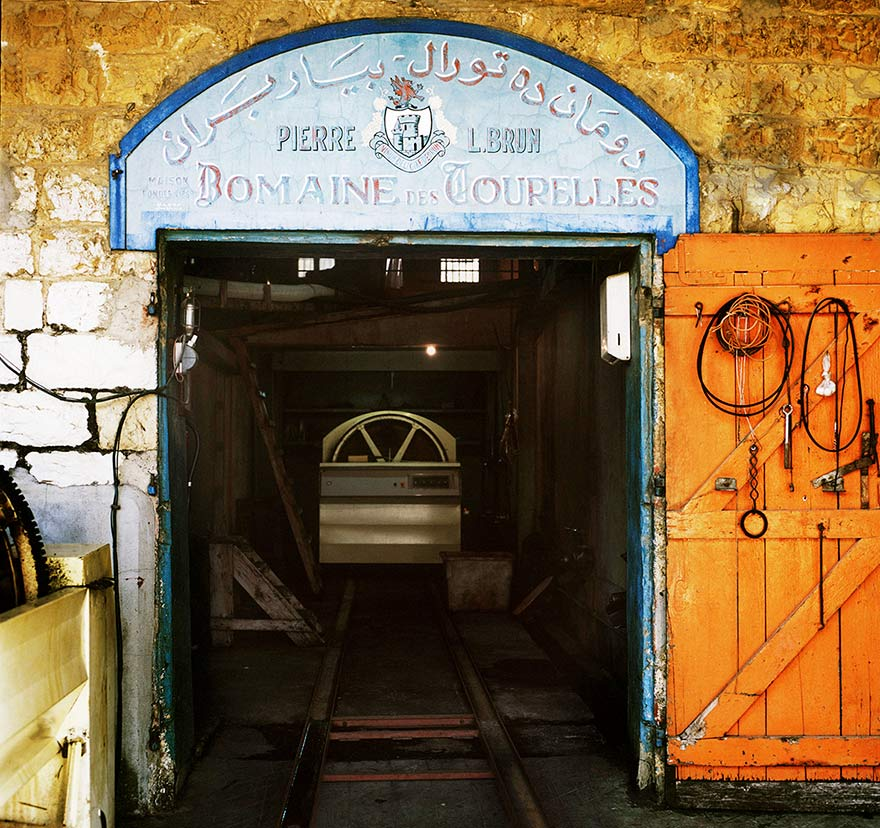 The 19th century original cellar door of Domaine des Tourelles, Lebanon's oldest commercial winery
