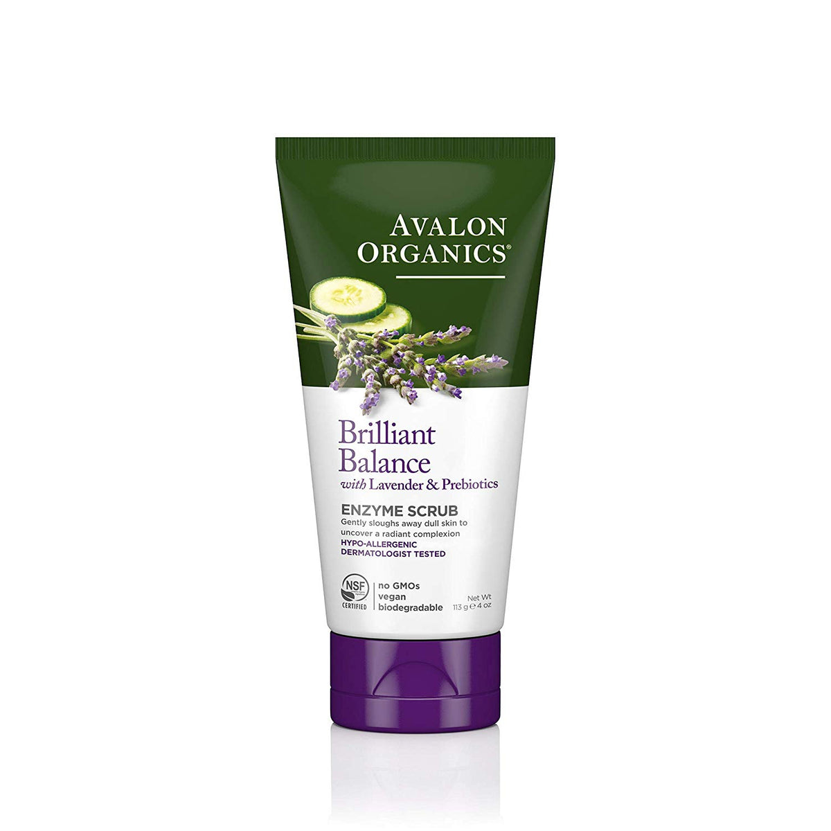 Avalon Organics Brilliant Balance Enzyme Face Scrub 100ml