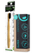Happy Brush Superblack Toothpaste and Smile Bamboo Charcoal Toothpaste Set
