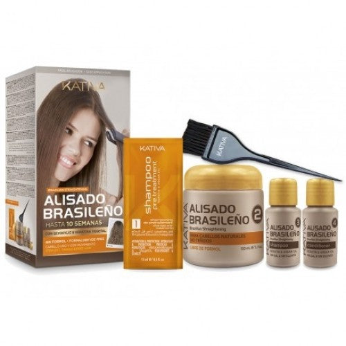 Kativa Home Brazilian Straightening Treatment Kit