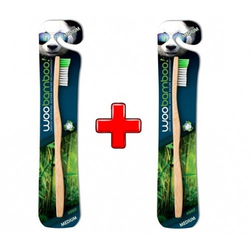 WooBamboo Standard Medium Toothbrush x 2