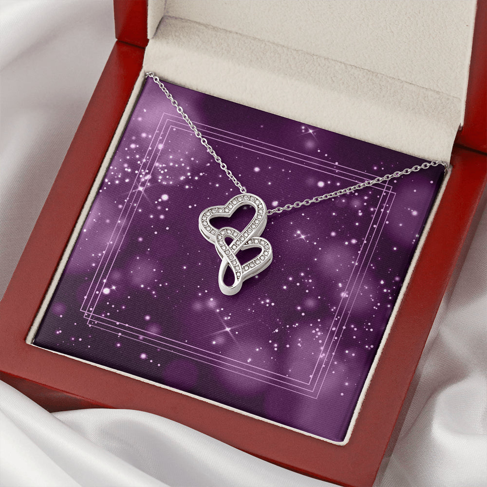 Intertwined Heart Necklace