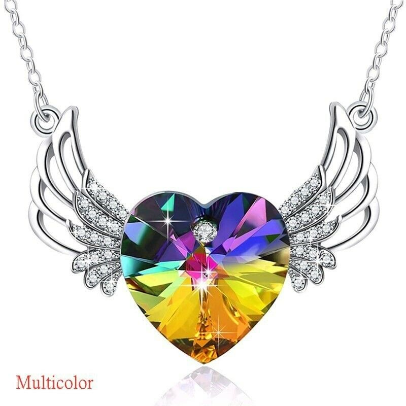 Women's Winged Heart Necklace Pendant