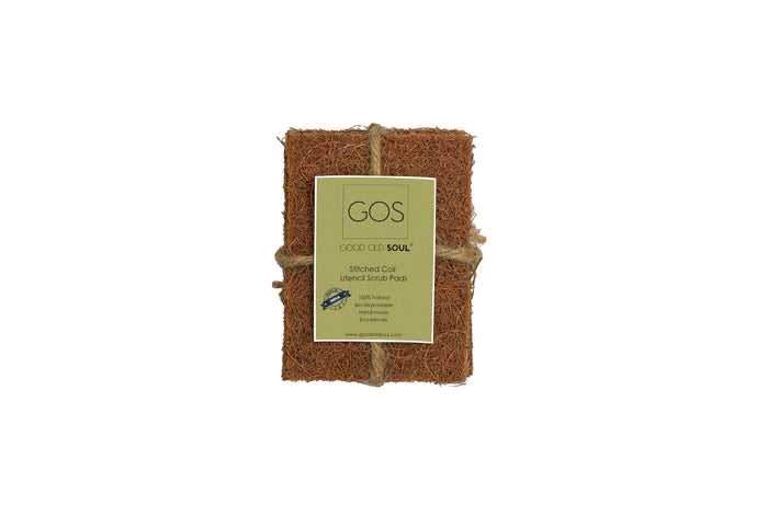 Natural Coconut Coir Dish Washing Scrub Pads - Pack of 4