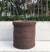 Abaca Wicker Hamper With Lid & Linen