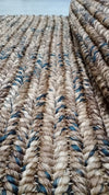 6x9 ft. Binding Design Abaca Carpet (Multi-colored)