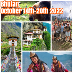 Happy in Bhutan October 14th-20th 2022 ($2500 Double Occupancy Shared Room, $2800 Private Room) featuring light hikes, Tigers Nest, cultural tours, all meals, hot stones, visa's, R/T trip air from Nepal