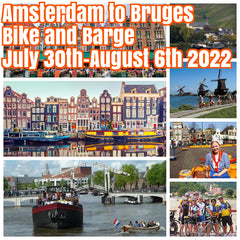 (Sold Out)Happy in Amsterdam to Bruges July 30th-August 6th 2022 bike and barge cruise ($1700 shared room double occupancy)featuring stops in the magical cities of Gouda, Dordrecht, Zierikzee, Middleburg, Ghent, and Bruges