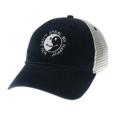 You Can't Steal My Happy Zen Ying/Yang black retro black trucker hat