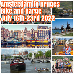 (Sold Out) Happy in Amsterdam to Bruges July 16th-22nd 2022 bike and barge cruise ($1700 shared room double occupancy)featuring stops in the magical cities of Gouda, Dordrecht, Zierikzee, Middleburg, Ghent, and Bruges