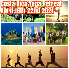 Happy in Costa Rica Yoga Retreat April 16th-22nd 2021. $1800 shared room only featuring daily yoga, meditation, yoga nidra, adventure tours, fabulous beaches,