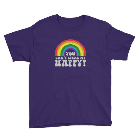 You Can't Steal My Happy Rainbow Youth Short Sleeve T-Shirt