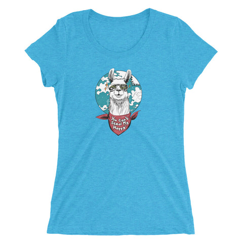 You Can't Steal My Happy Llama Ladies' Short Sleeve T-Shirt