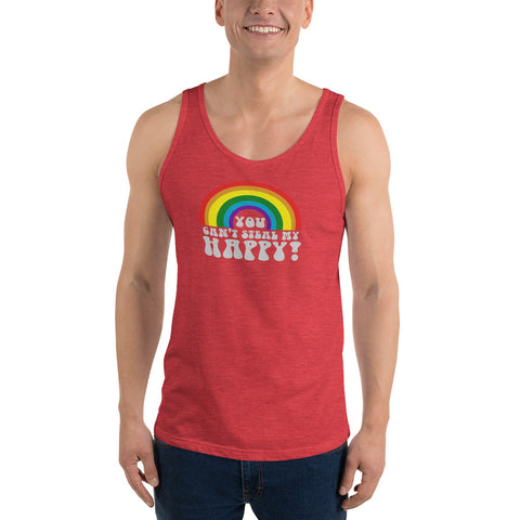 You Can't Steal My Happy Rainbow Tank Top