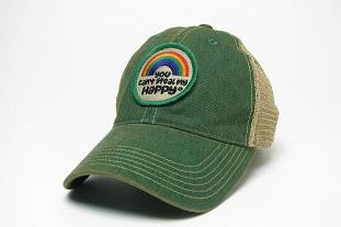 You Can't Steal My Happy Green Trucker Rainbow Hat