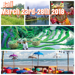 ( Sold Out) Happy in Bali March 23rd-28th 2018 featuring fabulous beaches, rafting, biking, temples and  rice terraces of Ubud.