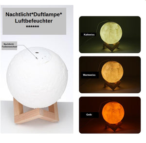 Mond Aroma Luftbefeuchter mit 3D - LED Farbwechsel  Beauty