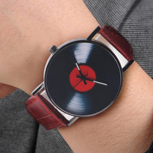 Laden Sie das Bild in den Galerie-Viewer, Vinyl Luxus Retro Damen / Herren Armbanduhr