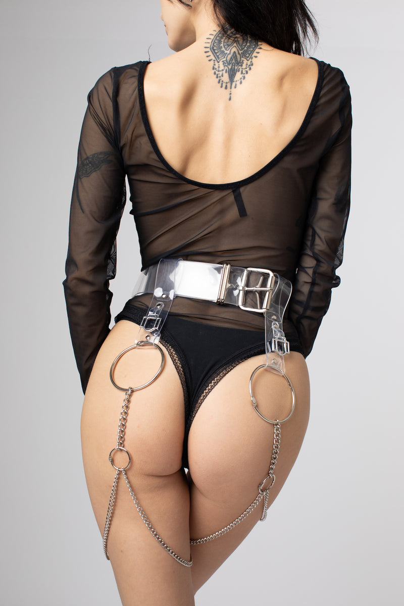 "Leg Harness Belt ""Crystaline"""