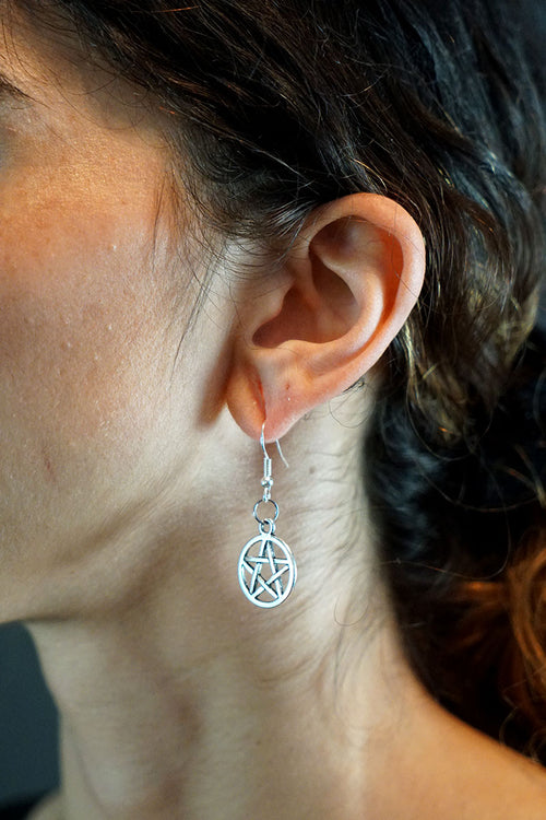 InternetXdoll Earrings Pentagram Poem Canel Aylin