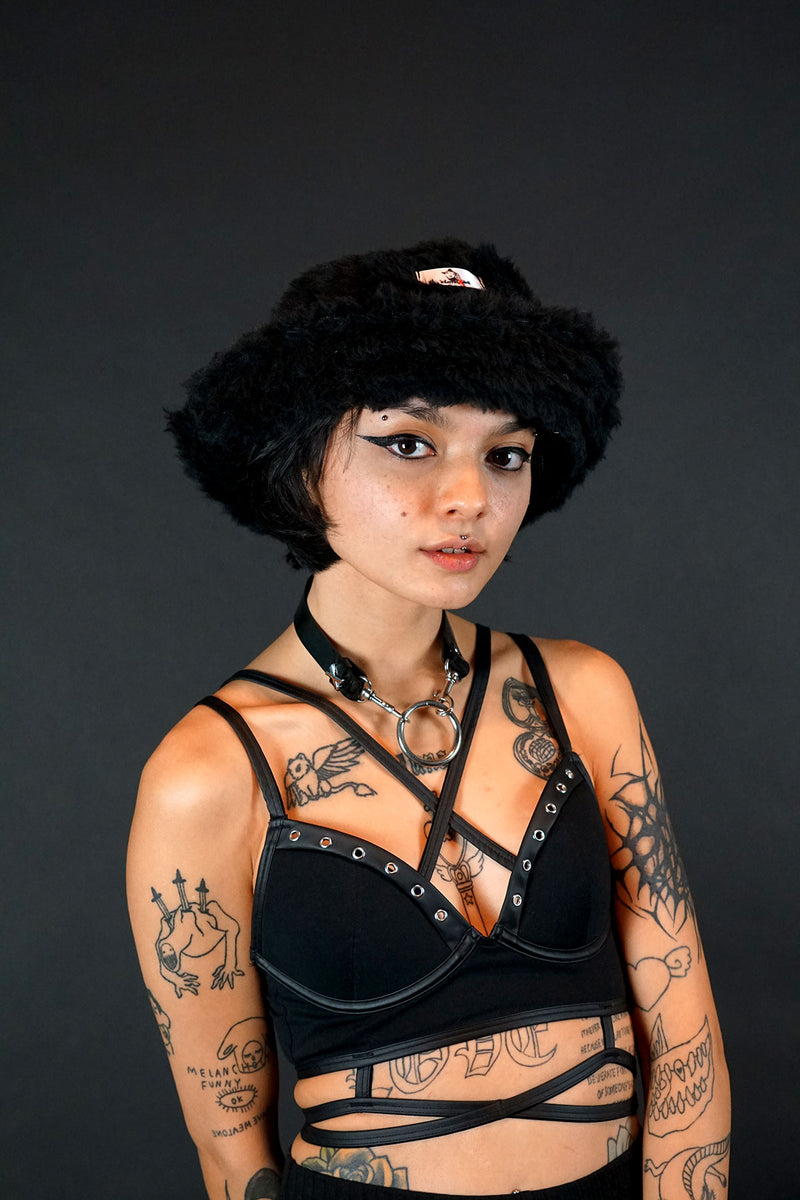 InternetXdoll Bucket Hat Willow black